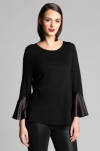 black bell sleeved top
