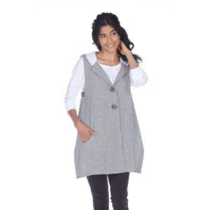 grey hoody vest