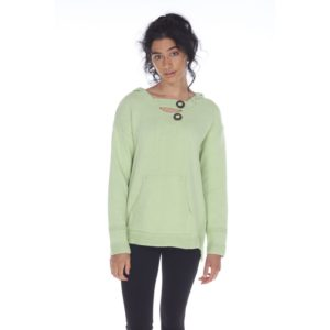 neon budha green pullover