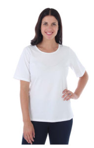 white cotton t