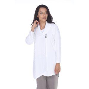 white pullover long sleeved