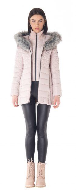Blush winter coat